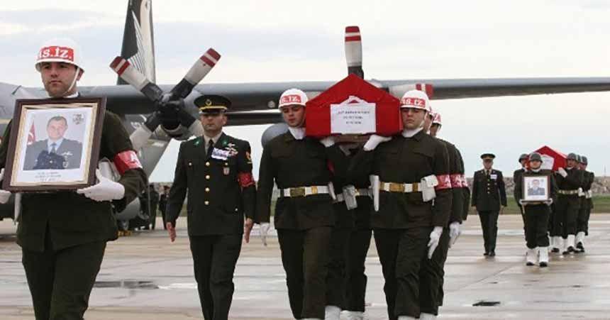 Şehit pilotların cenazeleri Ordu'ya getirildi