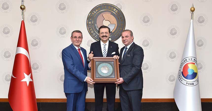 Samsun TSO'dan Hisarcıklıoğlu'na ziyaret