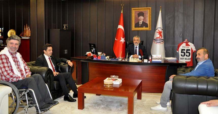 Samsunspor'dan Rektör Bilgiç'e Ziyaret