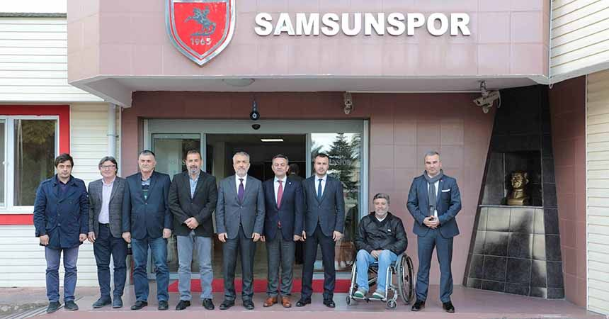 OMÜ'den Yılport Samsunspor'a ziyaret