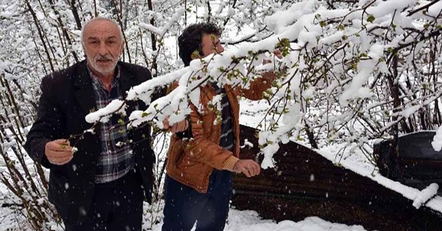 Nisan karı çiftçileri endişelendirdi