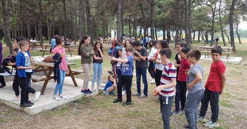Okulda piknik ve uçurtma şenliği