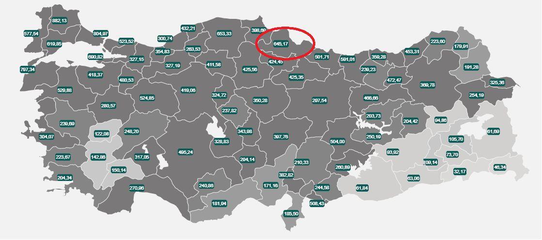 Samsun'da vaka sayısı azalıyor
