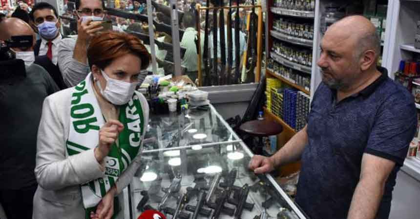 Meral Akşener Samsun'da esnaf ziyareti yaptı