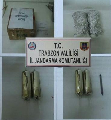 Trabzon'da sezyum yakalandı