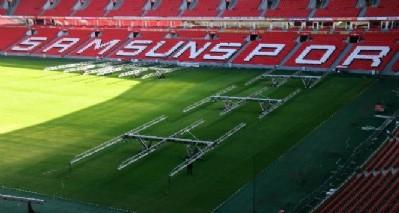 Stadın çimleri değiştirildi