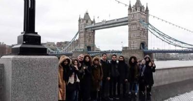 Öğrenciler İngiltere'den döndü