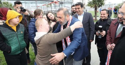 Samsunspor'a 'özel' moral