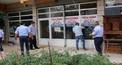 Ruhsatsız göçmen dükkanlarına mühür