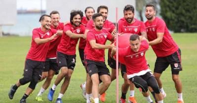 Samsunspor'da neşeli antrenman
