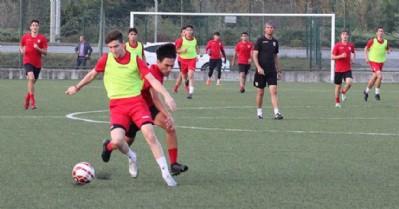 Genç takımlar hazırlık maçı yaptı